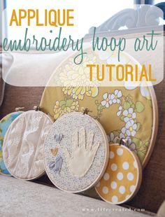 applique hoop art tutorial - cute gift!