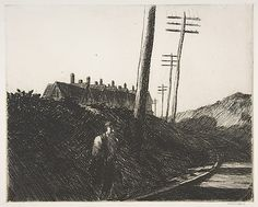 Edward Hopper - The Railroad (Etching)