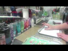 Gelli Printing Powered by iStencils - Part 1 gelli plate tutorial, gelli print, print power, stencil
