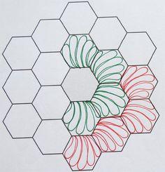 Geta's Quilting Studio: How to Quilt Hexagons