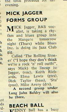 Rolling Stones founding...back in the day!