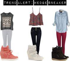 """""""Trend Alert: Wedge Sneaker"""" by melaniesims on Polyvore"""