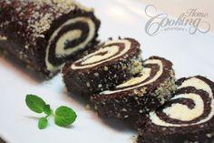 Walnut Chocolate Rolls with White Filling desserts, chocol roll, chocolates, food, recip, pinwheel, white fill, rolls, walnut chocol