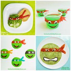 Teenage Mutant Ninja Turtle Fun Food Ideas from KitchenFunWithMy3Sons.com