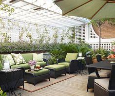 Adding a trellis to your back porch can make it more private! More private porch ideas: http://www.bhg.com/home-improvement/deck/ideas/deck-privacy-ideas/?socsrc=bhgpin092013buildatrellis&page=8