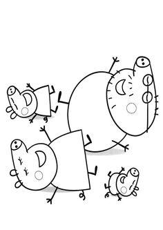 Dibujo para colorear de Peppa Pig (nº 19)