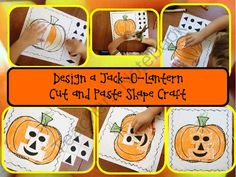 Pumpkin Craft  from Robin Sellers on TeachersNotebook.com -  (1 page)  - Design a jack-o-lantern and learn about shapes with this simple one-page craft.