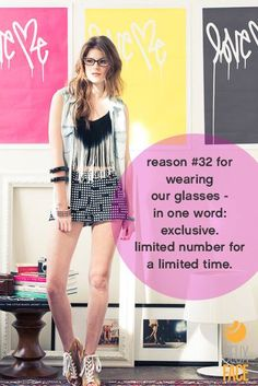 Reason #32 for wearing our glasses - You've been told! #DeuxFace