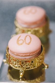 Macarons at a Royal 60th Birthday Celebration with So Many Spectacular Princess Party Ideas via Kara's Party Ideas KarasPartyIdeas.com by Banner Events #royalparty #princessparty