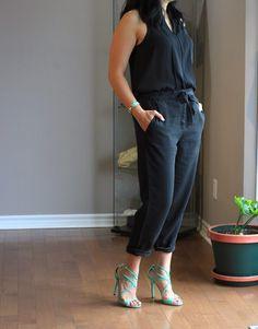 gap drapey tencel pants