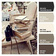 accessible beige sherwin williams | Tricorn Black, Accessible Beige, Cotton White, Otter (Paint colors ...
