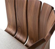 Black walnut chair back detail