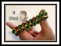 Rainbow Loom en Español - Pulsera de gomitas DIY - Taffy Twist