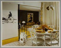 Del Carlo Studio, Untitled (interior with yellow carpeting), 1970s, Harvard Art Museums/Fogg Museum.