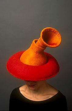Jean Hicks - the hat was featured in Chad Alice Hagen's marvelous book = Fabulous Felt Hats.