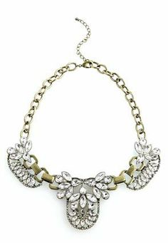 Cato Fashions Crystal Baroque Bib Necklace #CatoFashions