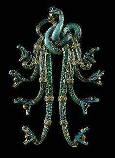 ca. 1920's Art Nouveau Serpent Broach By Rene Lalique