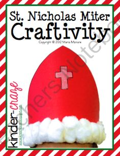 St. Nicholas Miter Headband Craftifvity from Kinder Craze on TeachersNotebook.com (3 pages)  - FREE Craftivity for students to create a Miter hat to resemble the one worn by St. Nicholas.