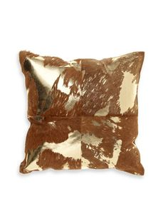 Metallic Hair-On Hide Pillow by Thro by Marlo Lorenz on Gilt Home