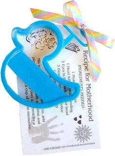Ducky Cookie Cutter Baby Shower Favor ~ with cute Recipe for Motherhood Poem