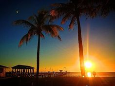 ~ Bright and Early ~  #SunriseThisMorning #loveFl #LauderdaleByTheSea LBTS Events Anglins Fishing Pier   Courtesy of Fort Lauderdale Seaside Photography