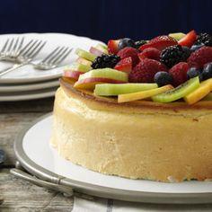 Crustless New York Cheesecake Recipe   Taste of Home Recipes