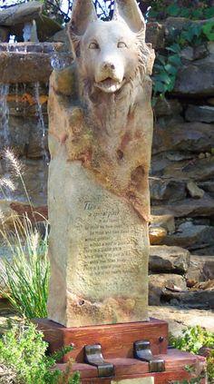 Shepherd Dog Garden Memorial Urn