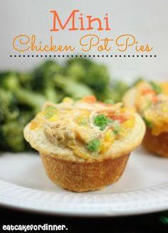 Mini Biscuit Chicken Pot Pies on MyRecipeMagic.com