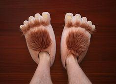 product, geek, slippers, nerd, plush halfl, stuff, hobbit slipper, funni, halfl slipper