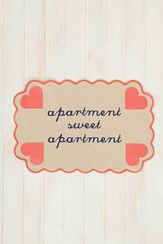 Plum and Bow Apartment Sweet Apartment Handmade Mat