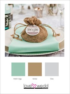 teal, tan, and grey #color schemes #wedding
