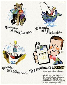 KENT cigarettes ad, 1966