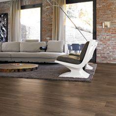Get the look of hardwoods with tile! Fusion Pau Brown Wood Plank Porcelain Tile | Floor & Decor