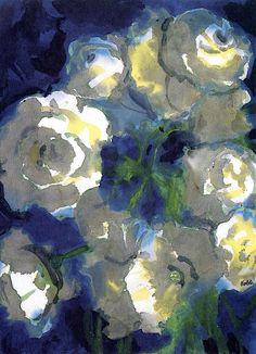 White Blossoms Emile Nolde