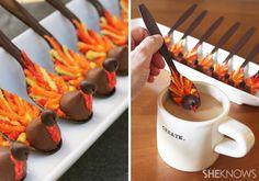 Gobble latte coffee spoons for Thanksgiving dinner!