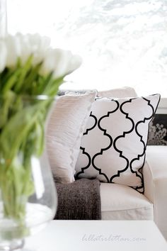 """Moscow"" light greige pillow by Elce Stockholm"