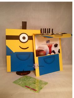 Set of 2 Minions Gift Card Holder