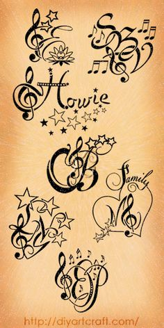 treble clef #tattoo monogram