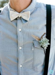 boutonnier, suspender tie groomsmen, braces and bow tie, bow ties, flower, casual bow