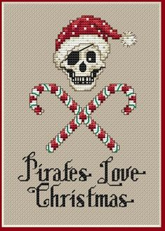 I ADORE her pirate cross stitch line. Makes this Pirate deliriously happy!
