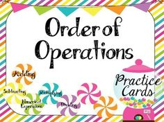 FREEBIE Order of Operations Cards {SAMPLE:Check out the bundle to get the FULL 7 centers that cover all of the Common Core Standards for 5th Grade!}