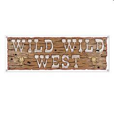 Western Party Wild Wild West Giant Banner