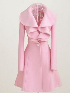 jacket, peacoat, fashion, ruffl, color, dress, collar, pink, winter coats