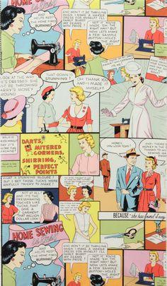 Alexander Henry comic fabric
