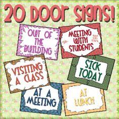 Door Sign Pack