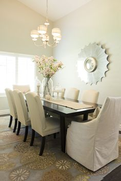 decor, dining rooms, idea, dark rooms, dine room, dining chairs, hous, homes, design