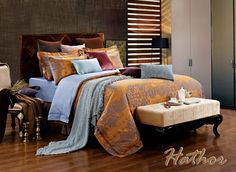 Hathor Luxury Jacquard Bedding and Window Treatments NEW by Dolce Mela