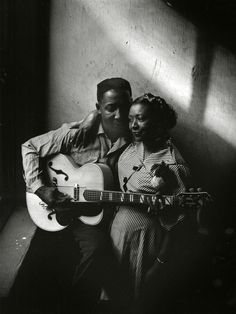 Muddy Waters and his wife Geneva in Chicago, 1951.    by Art Shay.