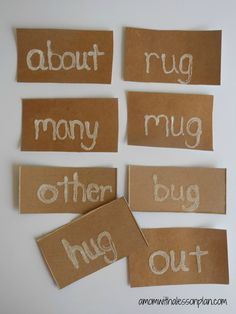 spelling word practice idea - easy to make sensory cards