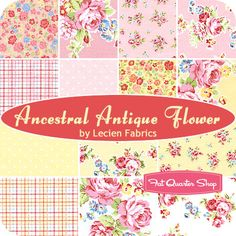 Ancestral Antique Flower Fat Quarter Bundle Lecien Fabrics